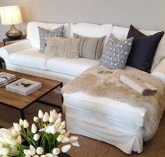 pillow arrangement on sectional sofa - Google Search