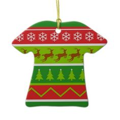ugly christmas sweater ornament ugly christmas sweater tacky christmas christmas tree ornaments ugly - Redneck Christmas Sweaters