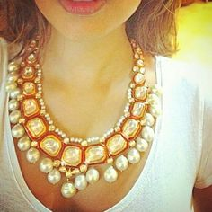 Kundan and polki necklace for a #indian wedding #jewelry