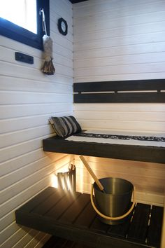 My dream sauna! Sauna Lights, Modern Saunas, Portable Steam Sauna, Sauna Design, Finnish Sauna, Bathroom Renos, Bathrooms, Sauna Room, Best Cleaning Products