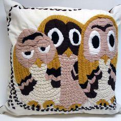 Adorable owl pillow Pinned by www.myowlbarn.com