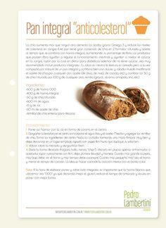 """Receta: Pedro Lambertini / Pan integral """"anticolesterol"""""""
