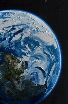 Designersgotoheaven.com -Erik Olson - Earth. Oil on canvas, 72x84 inches (2011)