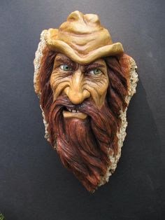 Suzy wood carving wood spirit 23 Wood Carving Faces, Dremel Wood Carving, Wood Carving Designs, Wood Carving Art, Wood Carvings, Tree Faces, Wooden Art, Whittling, Wood Sculpture