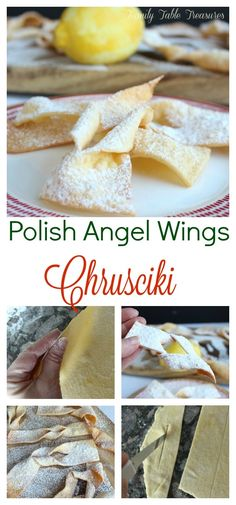 Polish Angel Wings {Chrusciki} – Family Table Treasures – Famous Last Words Polish Christmas, Christmas Baking, Christmas Cookies, Italian Christmas, Christmas Eve, Polish Cookies, Cookie Recipes, Dessert Recipes, Pastry Recipes