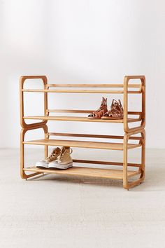 Shoe Rack Display stackable shoe rack Unique Home Decor - Thinking Outside the Box Home accents and Shoe Rack Urban Outfitters, Urban Outfitters Home, Vinyl Record Storage Shelf, Storage Shelves, Bin Storage, Shoe Storage, Modern Shoe Rack, Bamboo Shoe Rack, Stackable Shoe Rack