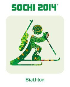 2014 Sochi Winter Olympic Games: Biathlon Pictogram
