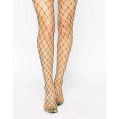 ASOS Oversized Fishnet Tights (23 BRL) ❤ liked on Polyvore featuring intimates, hosiery, tights, fishnet pantyhose, transparent tights, asos tights, asos and fishnet stockings