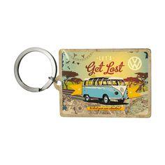 Ganz klar! An diesen Schlüsselanhänger gehört eigentlich der Schlüssel eines VW Bulli, aber er verträgt sich auch mit jedem anderen Auto- oder Haus...
