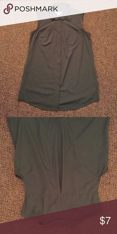 Olive green sleeveless top Olive green sleeveless top. Fits loosely. Worn once Merona Tops Button Down Shirts