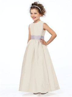 simple flower girl dress, could use bridesmaids color as sash