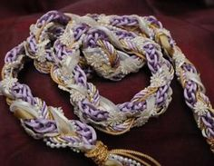 Handfasting Cord In Lilac And Cream..>> I don't like all of this, but I like the way it looks like a solid binding cord; this is something I would put in a shadowbox to display.