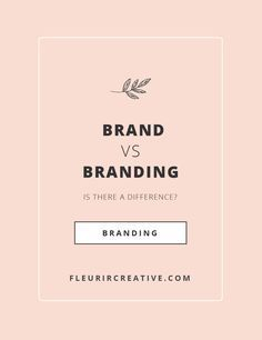 The difference between brand & branding is that one is an emotion and the other is a marketing tool. Branding is one element of building a successful brand. Personal Branding, Social Media Branding, Marca Personal, Personal Logo, Visual Identity, Business Branding, Business Marketing, Content Marketing, Corporate Branding