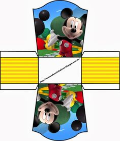 A cute little Mickey Mouse container to cut out and make Mickey E Minnie Mouse, Fiesta Mickey Mouse, Mickey Party, Mickey Mouse Birthday, Printable Box, Mickey Mouse Clubhouse, Party In A Box, Mickey And Friends, Disney Crafts