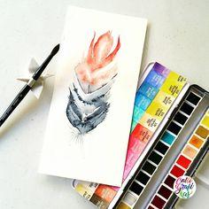 Paper: Canson Montval 300gsm Paint: Schmincke Horadam watercolors Brush: Silver Brush Black Velvet round no 8