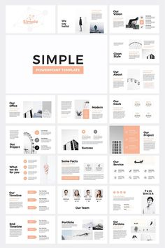 powerpoint Simple Business PowerPoint Presentation Template Clean, Creative and modern Presentation Template. Fully customization & super easy to use to fit any kind of business use. 36 un Business Presentation Templates, Presentation Design Template, Business Powerpoint Presentation, Presentation Layout, Business Plan Template, Power Point Presentation, Brand Presentation, Booklet Design, Presentation Slides
