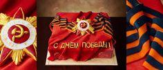 Украшение торта к 9 мая.