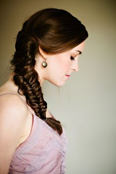 The fishbone braid. Learn the easy technique behind this gorgeous style.    CottonCandyMag.com