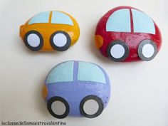 Paperweight for Papa! Such an adorable idea. (Italian teacher site)