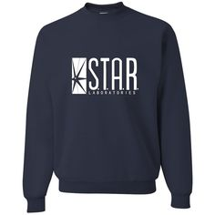 Adult Star Labs Sweatshirt Crewneck By Go All Out ($11) ❤ liked on Polyvore featuring tops, hoodies, sweatshirts, crewneck sweatshirt, crew-neck sweatshirts, crew-neck tops, crew neck sweatshirts and star sweatshirt