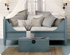 painted furniture. Love the shade of blue