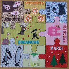 Le tapis du loup qui change de couleurs par Sandrine. - Ma cour de ré-création Crafts For Kids, Diy Crafts, Couture Sewing, Kids And Parenting, Creations, Album, Kids Rugs, Animation, Cool Stuff