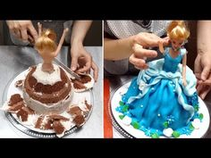 Barbie Doll Cake - How To Make by Cakes StepbyStep - YouTube