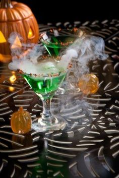 Closeup of Witch Blood Martini, vodka, gin, vermouth, and liquor - Halloween drinks series Stock Photo - 10717202
