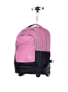 Olympia Gen-X Rolling Backpack (Pink). Constructed of supreme polyester with polyester. Hide-away padded shoulder straps. Dimensions: 19 x 12 x Weight: LB. Multi front zipper pockets with internal organizer. Luggage Backpack, Travel Backpack, Travel Bags, 20 Inch Wheels, Backpack With Wheels, Notebooks For Sale, Rolling Backpack, Best Handbags, Nice Handbags