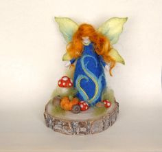 Autumn Garden Fairy, Waldorf Inspired, Needle Felted