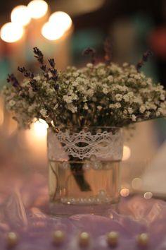 table decoration, baby´s breath, lavender _  Picture by Fräulein Wunder Hochzeitsfotografie