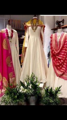Buy designer party wear Punjabi suits, best outfits and reasonable party clothes for women in Brampton Toronto Vaughan. Lehenga, Anarkali Dress, Pakistani Dresses, Indian Dresses, Indian Outfits, White Anarkali, Sarees, Indian Attire, Indian Ethnic Wear