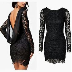 Image via We Heart It https://weheartit.com/entry/150611928 #black #dress #elegant #girl #lace #lovely