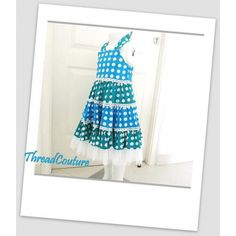 Tiered Polka Dot Dress 2 - 10yr Pattern by Thread Couture
