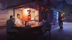 Video Game Overwatch  Genji (Overwatch) Hanzo (Overwatch) McCree (Overwatch) Mei (Overwatch) Wallpaper