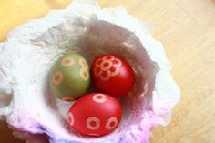 Reverse Stenciling: Easter Egg Decorating and Dyeing with Hole Reinforcement Stickers