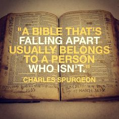 """""""For the word of God is alive and powerful. It is sharper than the sharpest two-edged sword, cutting between soul and spirit, between joint and marrow. It exposes our innermost thoughts and desires."""" (Hebrews 4:12) It is a common temptation of Satan to make us give up reading the Word as if it were of no use to read the Bible. The truth is that in order to enjoy the Word, we ought to continue to read it. The less we read the Word of God, the less we desire to read it. (Source: George Muller)"""