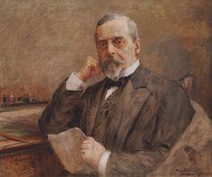 """Kazimierz Pochwalski, """"Portret Henryka Sienkiewicza"""", 1915, fot. Pałacyk Henryka Sienkiewicza w Oblęgorku"""