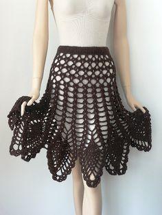crochet /poncho skirt pattern via 20 Popular Free #Crochet Skirt Patterns for Women