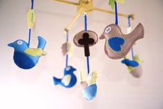 Birdies Mobile in 100% wool felt £70 at www.morrowlandcreations.co.uk #morrowlandcreations