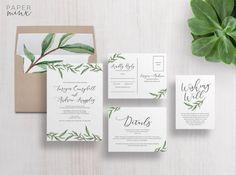 Wedding Invitation  Wedding Invitation Suite  by PaperMinxDesigns