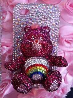 Now on Sale care bears iphone 4 case decoden bling  op Etsy, 50,00€