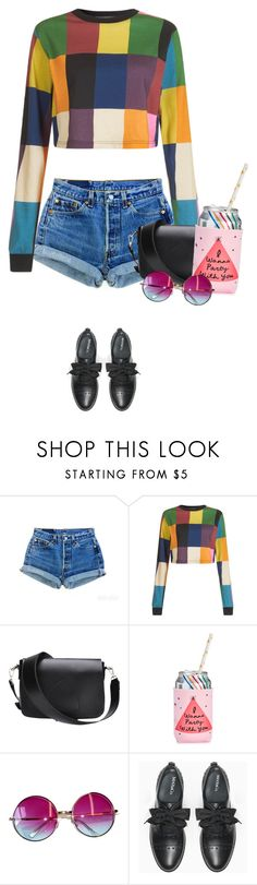 """i wanna party with you"" by mimas-style ❤ liked on Polyvore featuring Levi's, House of Holland, ban.do, Janis and Max&Co."