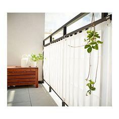 Empire Sterling - Elegante copertura di protezione per vento e sole, con 8 cinghie, lunghezza 35 cm, con fibbie di fissaggio per binari per balconi incluse