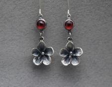 Rebecca Fargher RF337  cherry blossom garnet earrings  $195