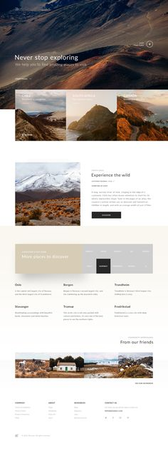 Minimal & Beautiful travel website