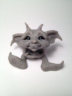 Original Goblin Troll Fairy  Baby Gargoyle  by HedegaardsWhimsies, $35.00