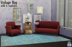 Vintage rugs at Sims 4 Studio via Sims 4 Updates Check more at http://sims4updates.net/objects/decor/vintage-rugs-at-sims-4-studio/