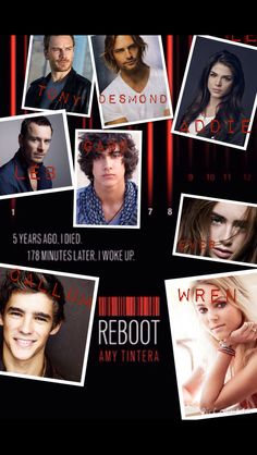 Reboot by Amy Tintera with dream cast for movie.