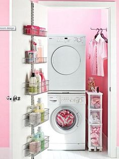 Fabulous Home Ideas – laundry room small pink